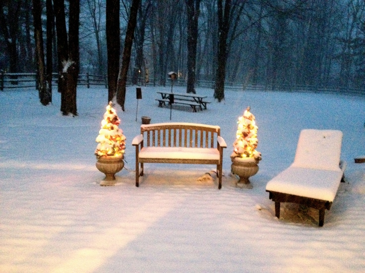 First day of winter in Chagrin Falls, Ohio