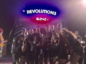 Finish line celebration